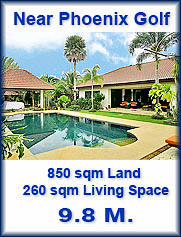 Na Jomtien Villa near Golf Course for sale