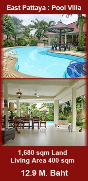 East Pattaya Villa for sale with swimming pool and security