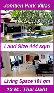 Pool Villa for Sale in Jomtien Park Villas Pattaya