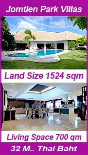 Jomtien Park Villas Pattaya Pool Villa for sale