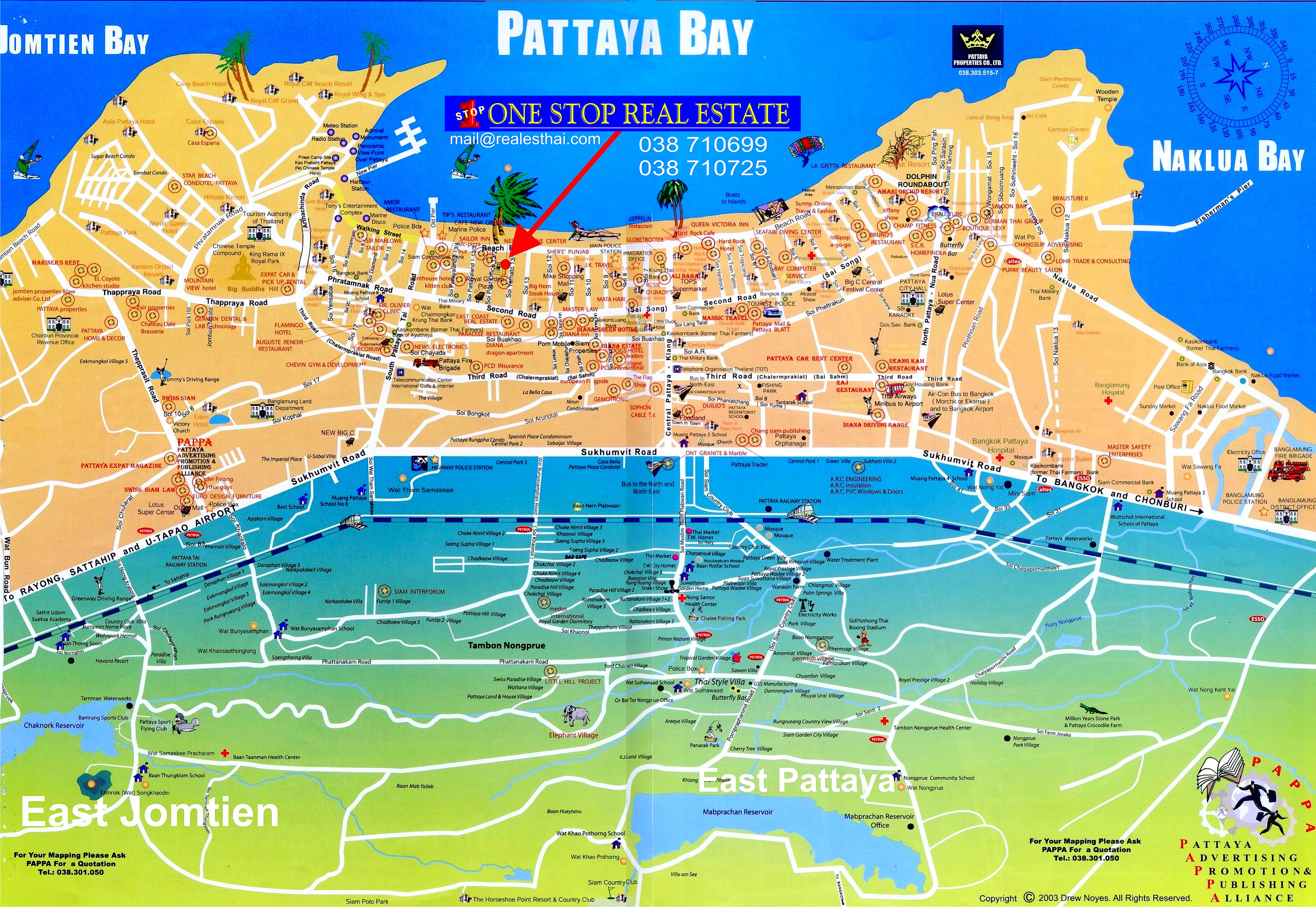 Pattaya Thailand  City new picture : ... Real Estate Pattaya Thailand : Location Map and Pattaya Street map