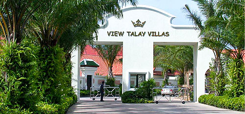 Entrance gate of View Talay Villas