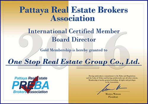 Pattaya Thailand : One Stop is member of the Real Estate