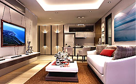 Living Room in Peak Towers Condo Pattaya