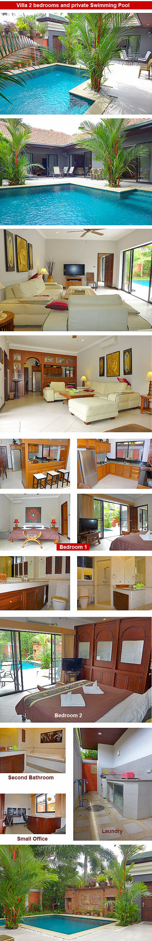 2 bedroom Villa with private swimming pool - Pattaya