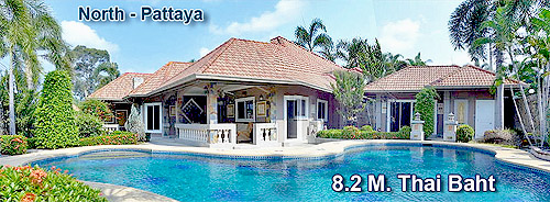 Quality Villa with separate guest house and swimming pool for sale - Pattaya