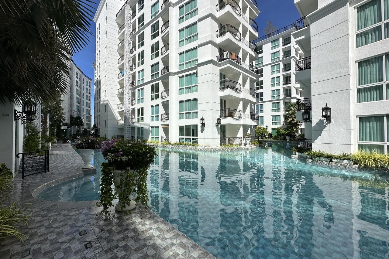 New Olympus City Garden Condo zum Verkauf, 40 bis 56 qm, 2 Schlafzimmer, 2 Bader, Eine neue Lebensart im Zentrum von Pattaya, gelegen in einem 12.800 qm grossen mediterranen Park, Preis von 3.9 M. Baht