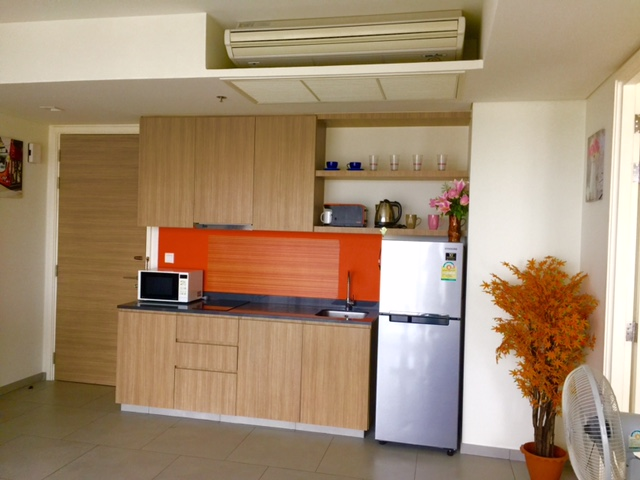 Open plan living room Wong Amat Zire Condo Sale