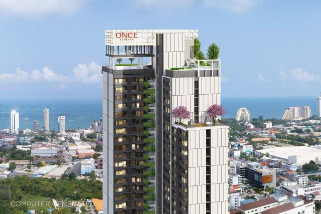 New Once Pattaya Condo zum Verkauf, Studio 28 bis 28,6 qm, europaische Kuche, Bad, voll mobliert, Balkon, Preise ab: 3.332 M Baht - 6% - 3 Jahre Mietgarantie