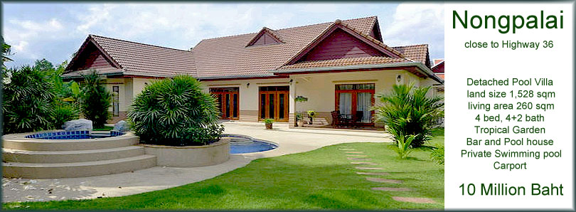 Nongpalai beautiful villa with big land pattaya north