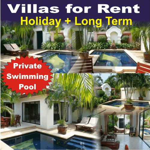 Pattaya Holiday Villas With Private Swimmingpool For Rent
