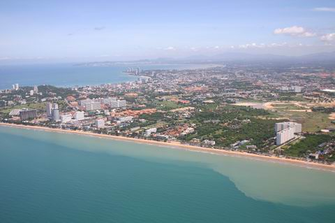 Aerial photo Jomtien, Pattaya, Naklua